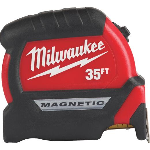 Milwaukee 35 Ft. Magnetic Compact Wide Blade Tape Measure