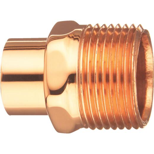 Mueller Streamline 1/2 In. FTGxM Copper Pipe Adapter